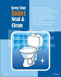 keep the bathroom clean toilet designer posters for workplace 5s quality safety motivational