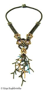 necklace beaded crystal images Chrysogonum gold and green necklace cubic right angle weave jpg