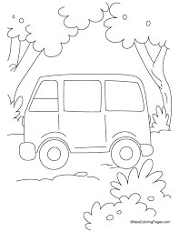 simple van coloring download free simple van coloring