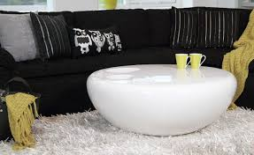round white wood coffee table modern round white coffee table oval glass and iron cool modern