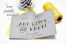 tying the knot diy and printable smitten on paper
