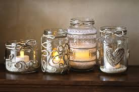 candles in glass jars amazing on modern home decoration in company