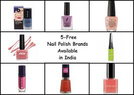5 free nail polish brands available in india