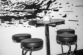 free images table black and white restaurant meal room drum