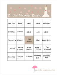 wedding words for bingo free printable bridal shower bingo