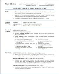 Admin Resume Template Database Administration Sample Resume 22 Sql Developer Summary