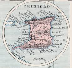 Trinidad Map Caribbean Trinidad And Tobago
