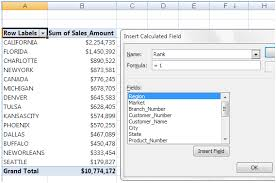 Excel 2010 Pivot Table Add Rank To Pivottable U2013 Bacon Bits