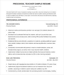 teachers resume template resume template word 51 resume templates free