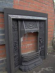 Cast Iron Fireplace Insert by Salvaged Period Fire Inserts