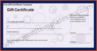 13 microsoft word gift certificate template survey template words
