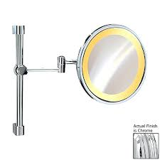 Extendable Magnifying Bathroom Mirror Staggering Magnifying Wall Mount Mirror And Light Plus Light