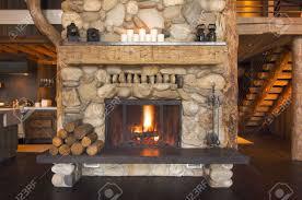 log cabin fireplace images nomadictrade