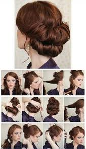step bu step coil hairstyles diy rolled chignon hair tutorial chignons chignon hair and