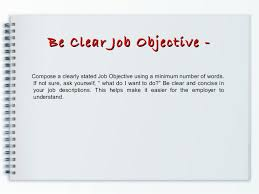 Job Objective In Resume by Resume Prepration Resume Writing