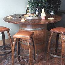 Oak Bistro Table Vintage Oak Bistro Table Wine Enthusiast