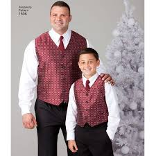 pattern for husky boys u0027 u0026 big u0026 tall men u0027s vests simplicity