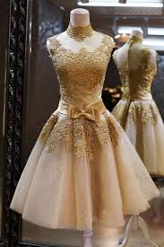 beautiful graduation dresses sparkly high neck gold lace homecoming dresses gorgeous cocktail