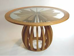 dining table in oak and glass makers u0027 eye