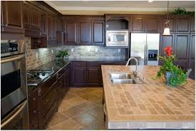 countertops kitchen countertops and tile backsplash island