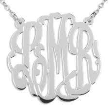 Sterling Silver Monogram Jewelry Handcrafted Polished Monogram Necklace U2022 Hanalaura Jewelry