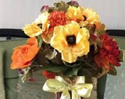 Silk Flower Centerpieces Silk Flower Bouquet Etsy