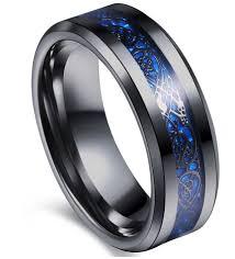 celtic dragon rings images 8mm tungsten black celtic dragon blue carbon fibre mens ring band jpg