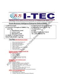 Kinds Of Tables by Rr Itec Obiee 11 G Course Content Data Warehouse Oracle Database