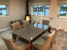 table and chairs for 6 year old dining table and 6 chairs less than 1 year old taupe colour in