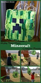minecraft pinata make your own minecraft creeper pinata busy s helper