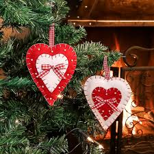 set of 2 country tree decorations