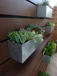 Hanging Planter Boxes by Metal Hanging Planter Box Horizontal Fence By Metrogardens