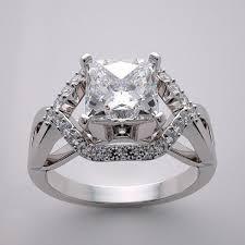 14k artistic engagement ring setting geometric art deco style