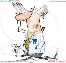 royalty free rf clip art illustration of a cartoon scientist