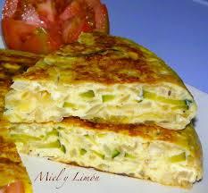 cuisine espagnole recette miel y limón tortilla de cebolla y calabacín 5pp ración qué