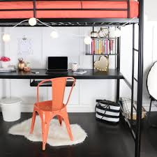 full size loft bed with desk underneath home design