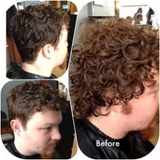before and after thinning mens haircut medium curly hair inspiration the cherry blossom salon atlanta