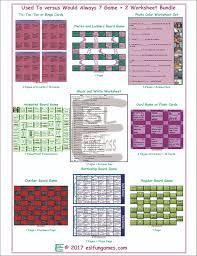 used to would always 7 game 2 worksheet bundle esl fun games fun