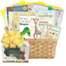 Gift Baskets With Free Shipping First Library Baby Books Gift Basket 200 00 Themed Baby Gift
