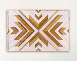 geometric wood wall handcrafted wood wall wooden home decor by ethoswoodworks
