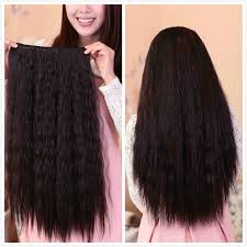 synthetic hair extensions free shipping 60cm wavy synthetic hair 5 clip in hair