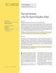 thar desert tree crop interaction in the thar desert of rajasthan india pdf