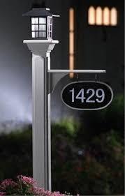 Lighted House Number Sign Solar Address Light Foter
