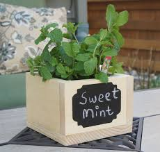 herb garden planter box handcrafted planter box with reusable chalkboard for kitchen