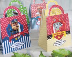 Birthday Favor Bags by Paw Patrol Etsy