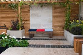 Vertical Flower Bed - outdoor room patio plant u0026 flower stock photography