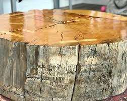 tree stump coffee table tree stump table etsy