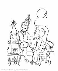 birthday boy coloring pages birthday coloring pages free printable kids party games at the