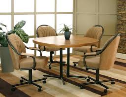 Rolling Dining Room Chairs Casters For Dining Room Chairs Dining Chairs W Casters Chair Pads