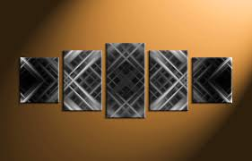 5 piece grey abstract modern canvas photography